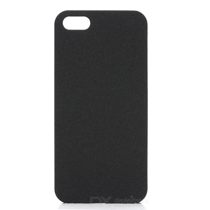 Protective PC Matte Back Cover Case for IPHONE 5 - Black