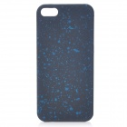 Protective ABS Matte Back Cover Case for iPhone 5 - White + Blue