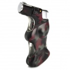 Beauty Spray Gun Pattern Windproof Butane Gas Lighter - Camouflage Black