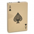 Poker Pattern Windproof Steel + Plastic Butane Gas Lighter - Khaki