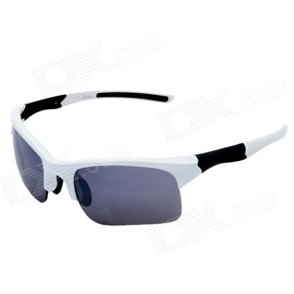 Fashion UV400 UV Protection Resin Lens Sunglasses w/ Case - White + Black + Grey настенный светильник odeon 2896 2w