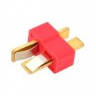 100A T-Shape Gold Plated Wire Connect Female + Male Plugs (2*10PCS)