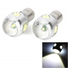 SENCART 1156 9W 480lm 5-LED White Light Car Brake Bulbs - Silver (2 PSC / DC 12~24V)