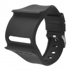 Stylish Wrist Watch Style Silicone Wristband for Ipod Nano 6 - Black