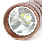 LXQQ X118 120lm 2-Mode White LED Flashlight Speaker - Coffee
