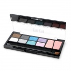 BB1004 Cosmetic 8-Color Eye Shadow + 2-Color Blush Palette - Multicolored (15g)
