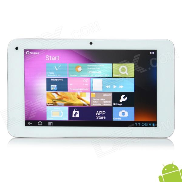 "CUBE U30GT 7"" Capacitive Screen Android 4.0.4 Dual Core Tablet PC w/ TF / Wi-Fi / Camera - White"