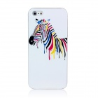 Colorful Zebra Pattern Protective Cover Case for Iphone 5 - White