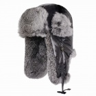 Genuine Kenmont KM-2142-09 Stylish Rabbit Hair Warm Hat - Deep Grey