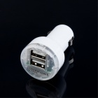 40020013 Car Cigarette Powered Dual Port Charger Adapter - White (DC 12~24V)