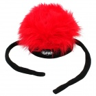 Kenmont KM-1041-03 Stylish Hot Funky Fleece Cap for Halloween's Makeup - Red
