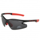 Genuine CARSHIRO Motorcycle Polarized Sunglasses - Black + Red