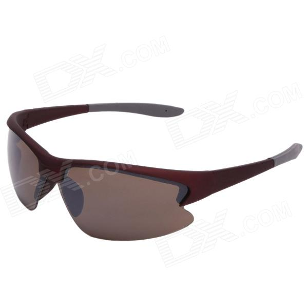 Xidunlang Y903 Outdoor Riding UV400 Resin Lens Eye Protection Goggle Sunglasses - Black Red