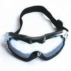 Sponge Cushion Safety Eye Protection Goggles Glasses with Elastic Strap - Black + Grey