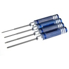 Handy Precise 1.5 / 2.0 / 2.5 / 3.0mm Hex Screwdrivers - Blue (4 PCS)