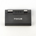 Focus Windrunner Aluminum Alloy Automatic Cigarette Case - Black