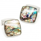 Fashion Colorful Undersea World White Steel Cufflinks for Men (Pair)
