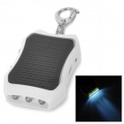 "Solar Powered External ""1200""mAh Mobile Battery Charger with 3-LED Light / Adapters - White"