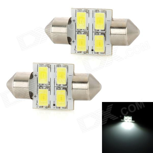 цены на Festoon 31mm 2W 270lm 4-SMD 5630 LED White Light Car Reading / License Plate Lamp (2 PCS / 12V) в интернет-магазинах