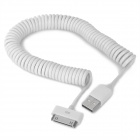 USB Male to Apple 30-Pin Male Flexible Data Cable for iPod Touch 4 - White (30~240cm)