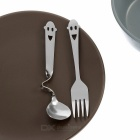 Happy Everyday Fork and Spoon Kit (Stainless Steel)