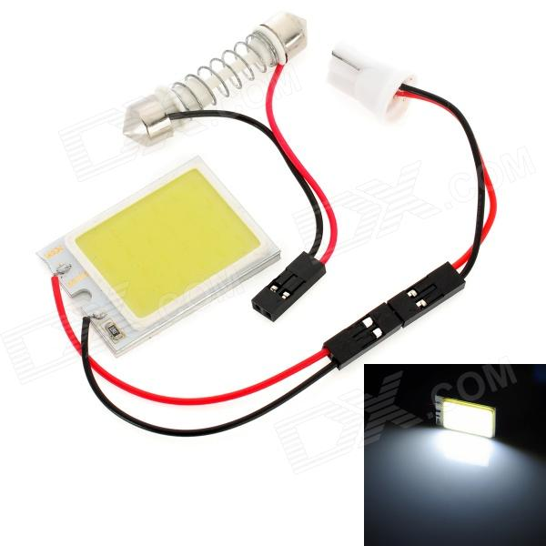T10 / Festoon 27~36mm 3W 100lm LED White Light Car Reading / Roof / License Plate LampCar Interior Lights<br>Form  ColorWhiteEmitter TypeLEDTotal Emitters1Color BINWhitePower3WColor Temperature:Connector TypeT10Other Features:ApplicationRoof lightPacking List<br>