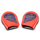 CZHAOER HT-K008 Auto Parts Car Electric Horn Speaker - Red + Black (Pair / DC 12V)