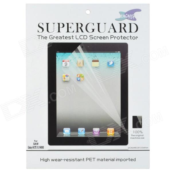 Glossy High Wear-resistant PET LCD Screen Protector for Samsung Galaxy Note 10.1 N8000