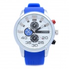 Fashion Rubber Band Quartz Wrist Watch - Blue + White (1 x LR626)
