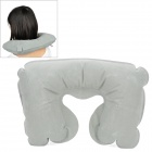 U Shaped Travel Air Inflatable Cushion Neck Pillow - Grey