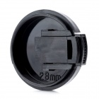 28mm Universal Plastic Lens Cap for Sony / Pentax / Fuji Camera - Black