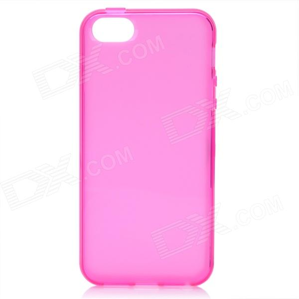 Protective TPU Back Case for Iphone 5 - Deep Pink