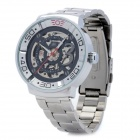 Fashion Stainless Steel Band Automatic Winding Mechanical Wrist Watch for Men - Silver
