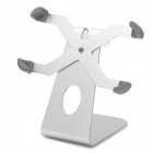 360 Degree Rotation Aluminum Alloy Desktop Bracket for Iphone 4S - Silver