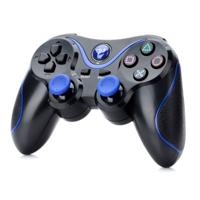 Dual-Shock Wireless Bluetooth Controller for Sony PS3 - Black + Blue