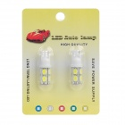 T10 4.5W 450lm 9-SMD 5630 Luz branca do diodo emissor de luz da luz do carro (2 PCS / 12V)