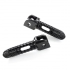 DIY Aluminum Alloy Front Pedals for Suzuki Motorcycle - Black (2 PCS)