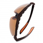 Outdoor Riding UV400 Resin Lens Eye Protection Polarized Lens Sunglasses - Brown