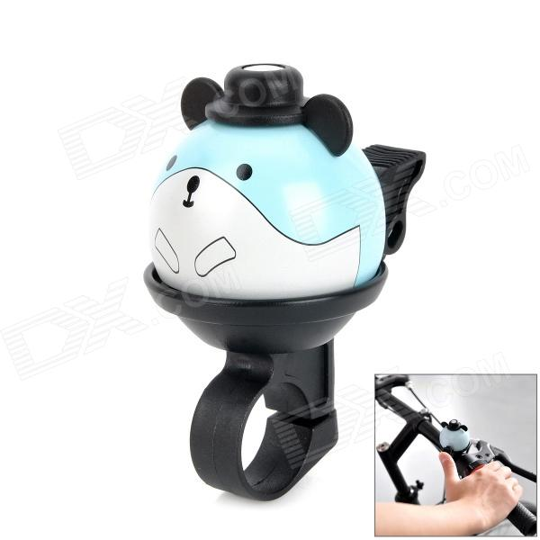 Hamster Cartoon Style Aluminum Alloy Bicycle Bell - Blue + White + Black gineyea aluminum alloy bike seatpost clamp blue