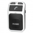 Bluetooth V3.0 2.4GHz аккумуляторная Hands-Free Car Kit - Black + Silver