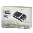 2.4GHz Bluetooth V3.0 Rechargeable Hands-Free Car Kit - Black + Silver