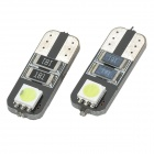 T10 1W 80lm 2-SMD 5050 LED White Light Decode Car Tail / License Plate Lamp (2 PCS / 12V)