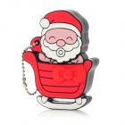 Cute Santa Claus Stylish USB 2.0 Flash Drive - Red (4GB)