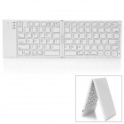 Folding Wireless Bluetooth V3.0 80-Key Rechargeable Keyboard for Ipad / Iphone + More - White