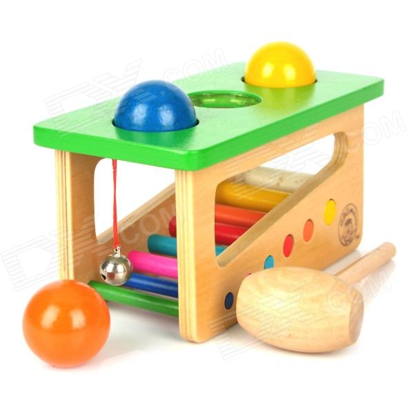 Educational Wooden Toy Sound Knocks Ping-pong Table - Multicolor