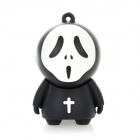 Creative Sorcerer Stylish USB 2.0 Flash Drive - Black + White (16GB)