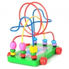 Funny Wooden Education Toy Trailer Circles Bead Labyrinth - Multicolor