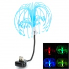 Sacred Tree Seed USB Sound Control RGB-LED Night Light - Black + Blue