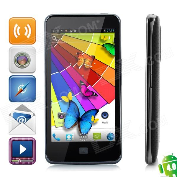 "ZOPO ZP300+ Android 4.0 WCDMA Bar Phone w/ 4.5"" Capacitive Screen, Wi-Fi, GPS and Dual-SIM - Black"