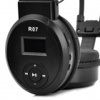 "1.0"" LCD Hi-Fi USB Rechargeable MP3 Player Headphone w/ FM / TF / 3.5mm Line in - Black"
